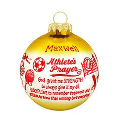 athlete's prayer ornament #athlete #prayer #ornament #sayings #Christmas #personalized $8.99