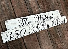 distressed address sign wood address sign by SweetestTdesigns, $40.00