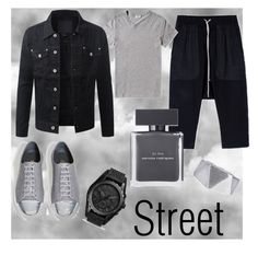 """""""Street style"""" by renicherie on Polyvore featuring Rick Owens, Acne Studios, Axel, FOSSIL, Narciso Rodriguez, BoohooMAN, mens, men, men's wear and mens wear"""