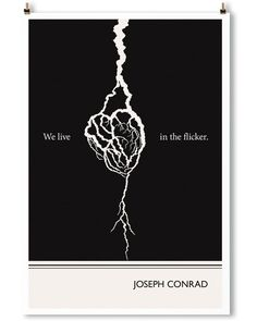 Joseph Conrad Quote Poster