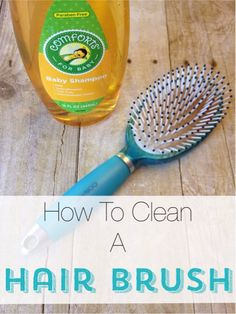 When was the last time you cleaned your hairbrush? It doesn't take much time, check out this easy way to clean a hairbrush.