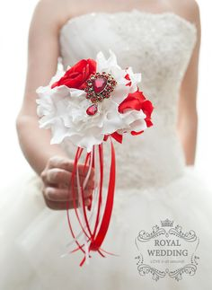 Flower Girl Wand Red White Wand Mini Bouquet Bridesmaids Bouquet Flower Girl Bouquet Flower Bouquet Brooch Bouquet Toss Bouquet Red Bouquet