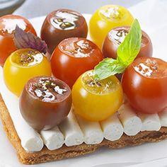 Recette : Tarte aux tomates cerise et fromage frais - Recette au fromage