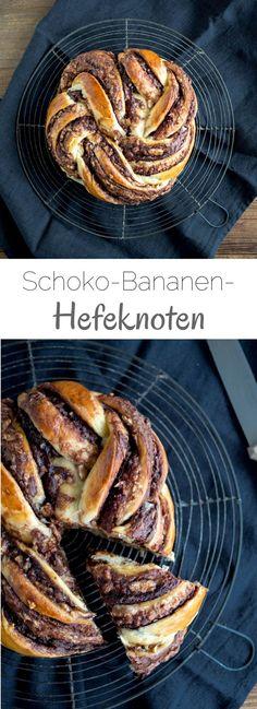 Schoko-Bananen-Hefeknoten #hefezopf #hefekranz #hefeknoten #nutella