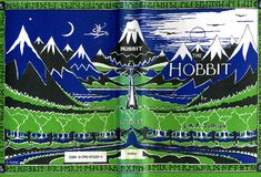"""Tolkien's notes can be seen around his design for the dust jacket of The Hobbit. There is also a publisher's note, """"Ignore red"""", to reduce printing costs. © The Tolkien Estate Limited The Hobbit Author, O Hobbit, Morgan Library, Fictional World, Book Sculpture, Cool Posters, Middle Earth, Lord Of The Rings, New York City"""
