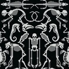 Just in time for Halloween, Studio Job has unveiled a collection of mosaic tiles with spooky graphics that depict bones and skeletons
