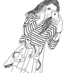 #iphone#jacket#girl#outlines#photo#selfie