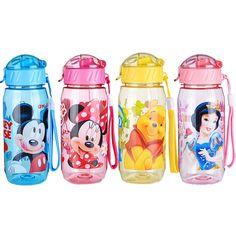 뜨거운 판매 DISNE 미니/미키 마우스 아이 마시는 병 접이식 밀짚 학교 어린이 컵 Sipper 병 공급 무료 배송