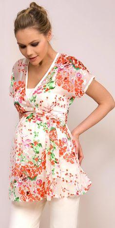 Osaka Silk Kimono Maternity Top by Tiffany Rose
