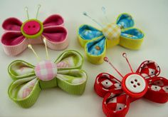 Fabric and Ribbon Kanzashi Butterfly Tutorial ... by aSundayGirl, $6.00