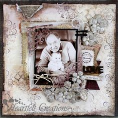 layout by Karan Gerber.... (love this baby with Grandpa layout)