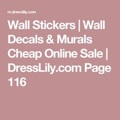 Wall Stickers | Wall Decals & Murals Cheap Online Sale | DressLily.com Page 116