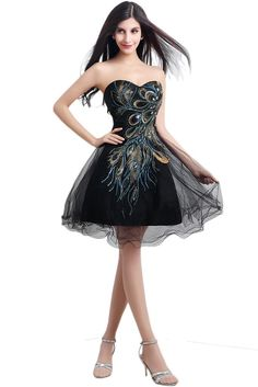 AmazonSmile: Audrey Bride Girls Short Homecoming Dress Phoenix Prom Gown Embroidery: Clothing