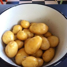 Jag måste bara visa er... Det här tog jag upp ur ETT stånd potatis. Så bra kan det bli att odla utan att gräva. From only one potato #nodig #prinsess
