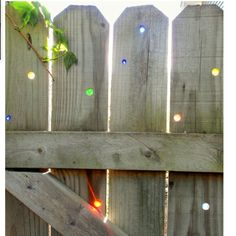 Marbles in fence  (I would put it much more for the light!:D)