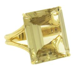 H Stern Large Quartz Gold Ring | From a unique collection of vintage cocktail rings at https://www.1stdibs.com/jewelry/rings/cocktail-rings/