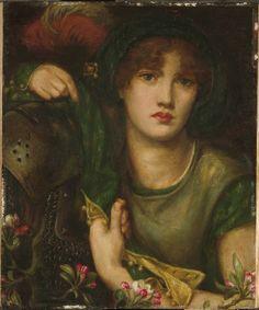 Dante Gabriel Rossetti British (London, England 1828 - 1882 Birchington-on-Sea, England) My Lady Greensleeves, 1863 Painting British, 19th century Oil on panel