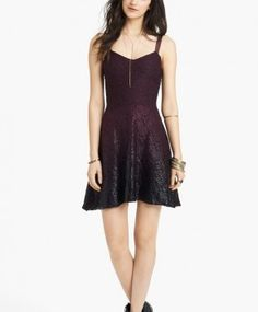 Free People Foiled Ombré Lace Fit & Flare Dress worn by Katherine on The Vampire Diaries #TheVampireDiaries http://www.pradux.com/free-people-foiled-ombre-lace-fit-flare-dress-25432?q=s3