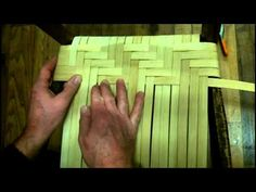 ▶ How to Weave a Splint Seat in Herringbone Pattern Using Flat Reed - YouTube