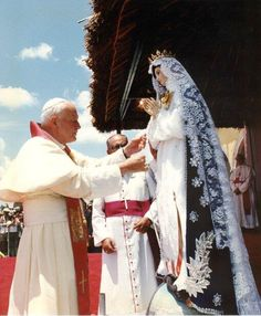 """As Pope John Paul II wrote in His encyclical Dives in Misericordia (Rich in Mercy), section 9: """"Mary is the one who experienced mercy in an exceptional way — as no one else."""""""