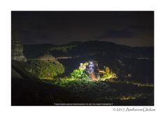 Rousano monastery at night - null