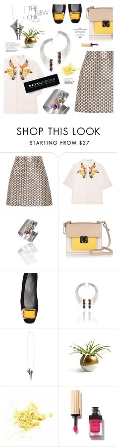 """""""The New Chic"""" by blingsense ❤ liked on Polyvore featuring Miu Miu, SUNO New York, Salvatore Ferragamo and Stuart Weitzman"""