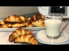 BOLLOS DE PAN CON FORMA DE CROISSANT THERMOMIX - YouTube Croissants, Glass Of Milk, Fondant, Cooking, Desserts, Dessert Ideas, Youtube, Videos, Gastronomia