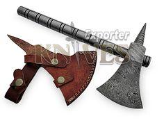 """Knives Exporter New Custom 14"""" Full Damascus Steel Viking Felling / Axe S140 #Knivesexporter"""