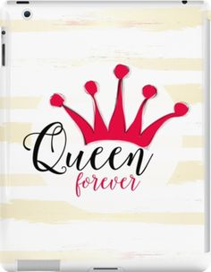 """Queen forever"" for big girl and little princess with pink crown by Martist86"