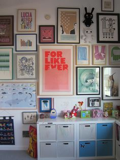 Best way to inspire your child's creativity is to fill their room with colorful art <3