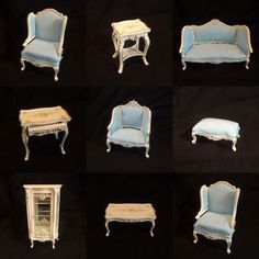 Quality 12th Dolls House Furniture Harpsichord And Stool JiaYi 046 01 2   Doll  Houses, Miniature Houses And Dolls