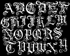 Tattoo Lettering | Graffiti Alphabet TattooGraffiti fonts tattoo. Old Classic Fonts ...