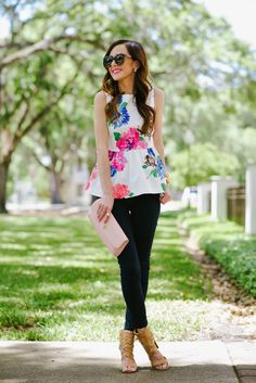 Street style tip of the day: Floral peplum top via @stylelist