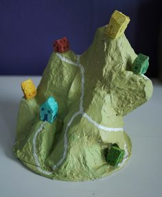 Egg carton watershed model.  Cool!
