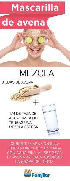Eliminate Your Acne-Remedies - mascarilla de avena para la piel grasa - Free Presentation Reveals 1 Unusual Tip to Eliminate Your Acne Forever and Gain Beautiful Clear Skin In Days - Guaranteed! Facial Tips, Facial Care, Beauty Care, Beauty Skin, Natural Acne Remedies, Acne Scar Removal, Skin Mask, How To Get Rid Of Acne, How To Treat Acne