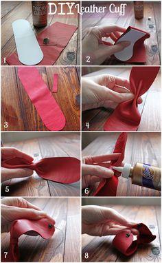 leather cuff bracelet tutorial from DIY Louisville's blog... love it! must try! #ecrafty love it! must try! #ecrafty