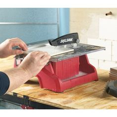 SKIL Wet Tabletop Tile Saw at Lowe's. Compact for easy portability, this Skil wet tile saw is designed for setup on a tabletop. Best Circular Saw, Sliding Table, Stainless Steel Table, Tile Saw, Lowes Home Improvements, Wet And Dry, Tabletop, Blade, Flooring
