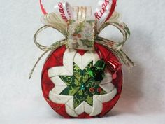 Quilted Fabric Ornament (No Sew Ornament) by KCFabricOrnaments for $15.00