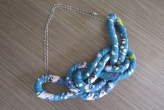 Fabric Necklace - step by step Photo tutorial - Bildanleitung