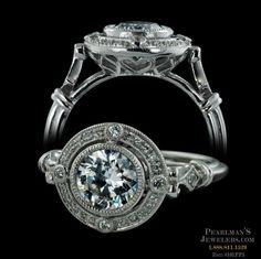 Beverley K 18kt white gold Art Deco style diamond engagement