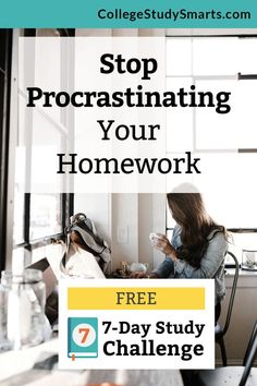 Stop procrastinating your homework. Learn simple strategies to help you take action (that isn't a struggle) and get results (like great grades). Exam Study Tips, Study Habits, Study Skills, College Motivation, Study Motivation, College Fun, College Tips, College Survival Guide, Study Schedule