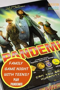 The Pandemic board game is an intense, strategy-based game. It's one of the best cooperative games for teens and families that's we've played. Players try to limit the outbreak of four diseases that have popped up around the world by working together to cure and eradicate them before everyone becomes infected. Sounds kind of familiar, huh? It's a perfect choice for family game night. In this game, either the players or the diseases will be victorious. Are you ready to save the world? Best Family Board Games, Fun Board Games, Family Games, Educational Board Games, I In Team, Teen Usa, Cooperative Games, Games For Teens, Matching Cards