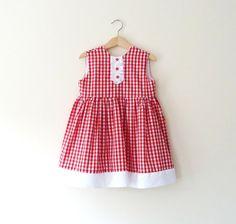Chicas guinga roja Swing vestido