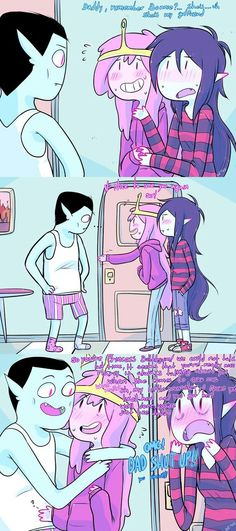 Marceline x Bonnibel (Adventure Time) - Introducing again Adventure Time Comics, Adventure Time Marceline, Cute Comics, Funny Comics, Cute Gay, Funny Cute, Blood Lad, Princesse Chewing-gum, Marshall Lee X Prince Gumball