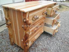 Aspen Log Dresser  Old Farm Amish Furniture - Dayton, PA (814) 257-8911 oldfarmfurniture@aol.com Visit our Facebook Page