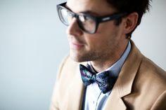 groom look | Blue bow tie