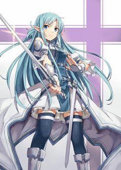 Post with 0 votes and 3 views. Sword Art Online, Asuna, by unknown Online Anime, Online Art, Anime Krieger, Manga Anime, Anime Eyes, Asada Shino, Kirito Kirigaya, Sword Art Online Wallpaper, Accel World