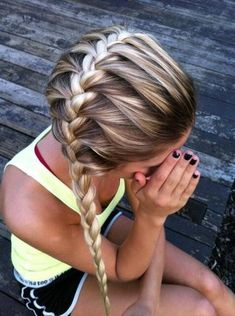 Mix your French braids up by having it go sideways instead of front to back