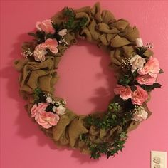 Wreath for my daughters room with the flowers from my bouquet!