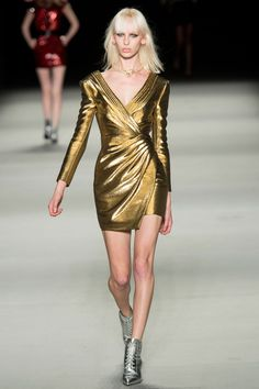 Saint Laurent Spring 2014 // Learn how to hand render shine: http://www.universityoffashion.com/lessons/rendering-shine/